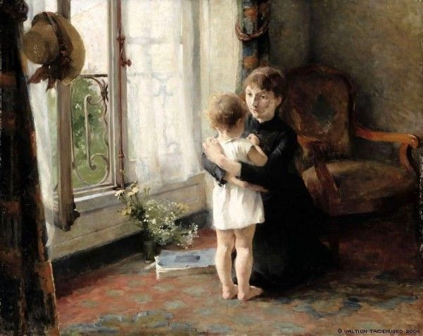 Helene Schjerfbeck (1862 – 1946, Finnish), Mother and Child