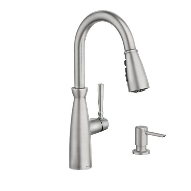 Surie Spot Resist Stainless One Handle Pulldown Kitchen Faucet
