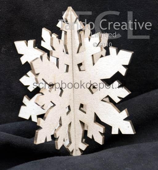 Tando Creative - 3D Snowflake style 1 (greyboard) 2st
