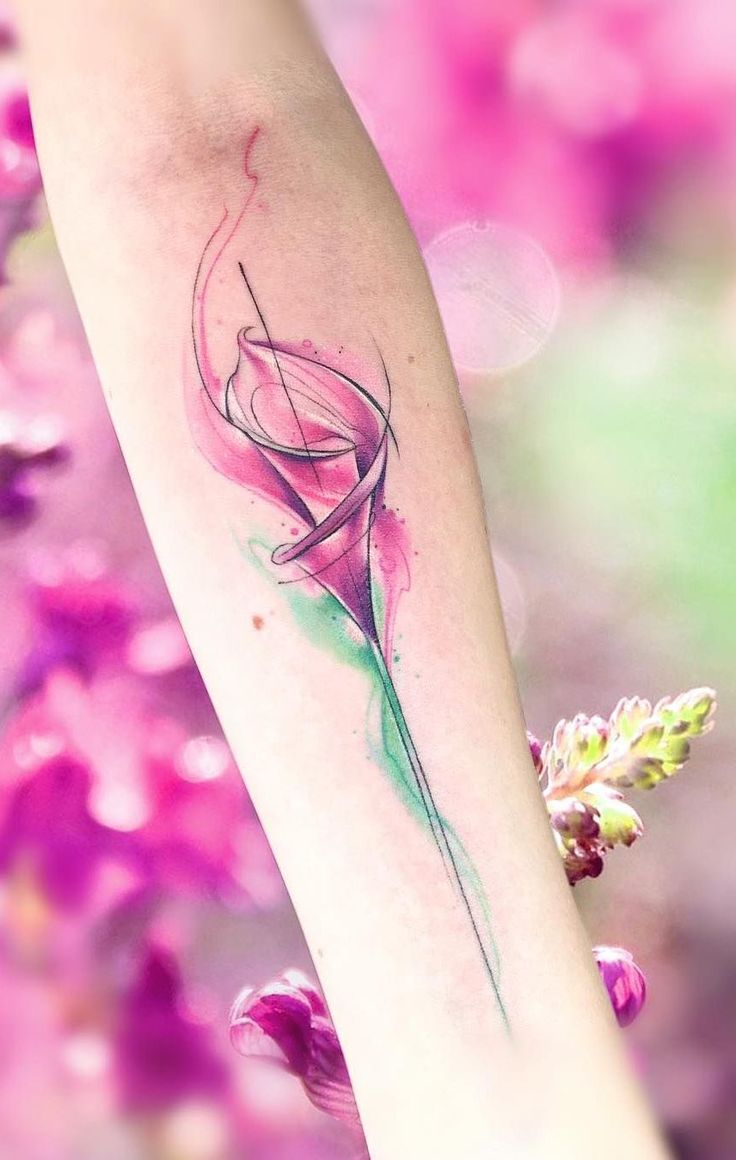 155 stunning watercolor tattoos that will-inkmetattoo