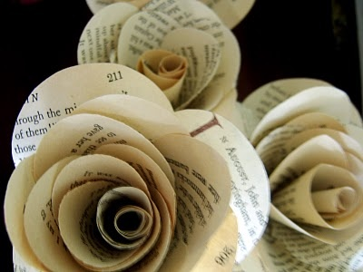 vintage paper roses.