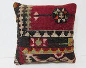 decorative pillow furniture pillow kilim pillow contemporary pillow throw pillowcase unusual cushion decorative pillow case red pillow 25694