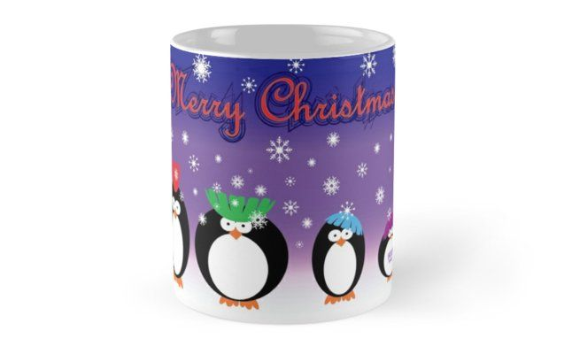 12 Days of Promos: 25% off Mugs. Use code DAYTWO. Christmas Penguins Mug by Scar Design. #mug #promotion #gifts #family #discount #penguins #kids #shopping #sales #xmas #christmas #xmasgifts #coffeemug #penguin #fun #cute #funny #christmasgifts #39;s