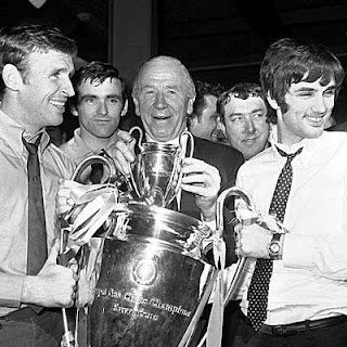 In 1968 Manchester United won the European Cup beating Benfica 4-1 in the final