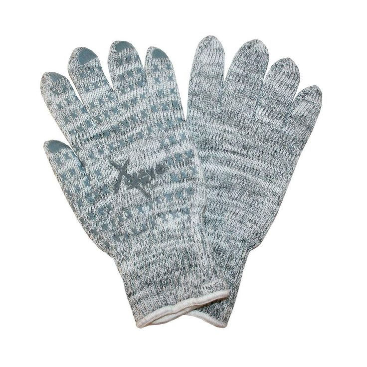 X-Glove Aramid Fiber High Heat up to 480 Degrees F One Side Silicone Coated Large Work Glove (1-Pair), Gray