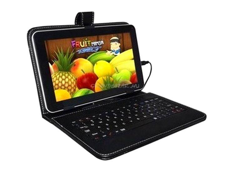 """Állítható méretű Tablet tartó tok ( 9-10""""-ig), beépített billentyűzetel + érintőceruza!"""