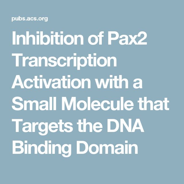 Inhibition Of Pax2 Transcription Activation With A Small