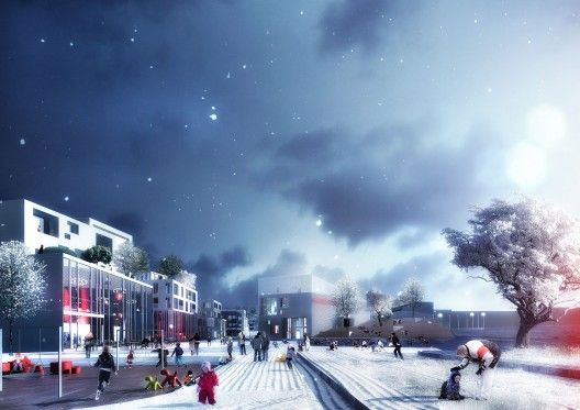 Danish/Norwegian team wins competition for Asker Sentrum / Adept & Dark Arkitekter