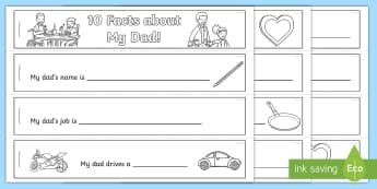 Father's Day Mini Flipbook Activity - Australia EYLF General, Fathers Day, Flipbook, Flapbook, Father, Writing task, EYLF,