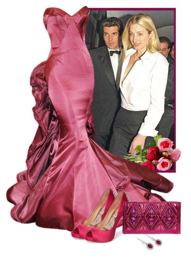 Carolyn Bessette-Kennedy by fashionrushs on Polyvore featuring polyvore moda style Badgley Mischka Balmain fashion clothing