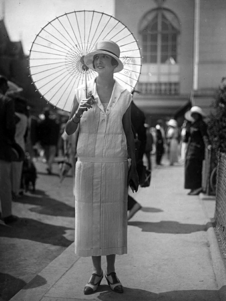 """fascinationstreetvintage: """"Summer Dress by Seeberger Freres on Getty Images. """""""