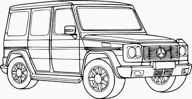 G Wagon Coloring Page Cars Coloring Pages 4x4 Coloring Pages