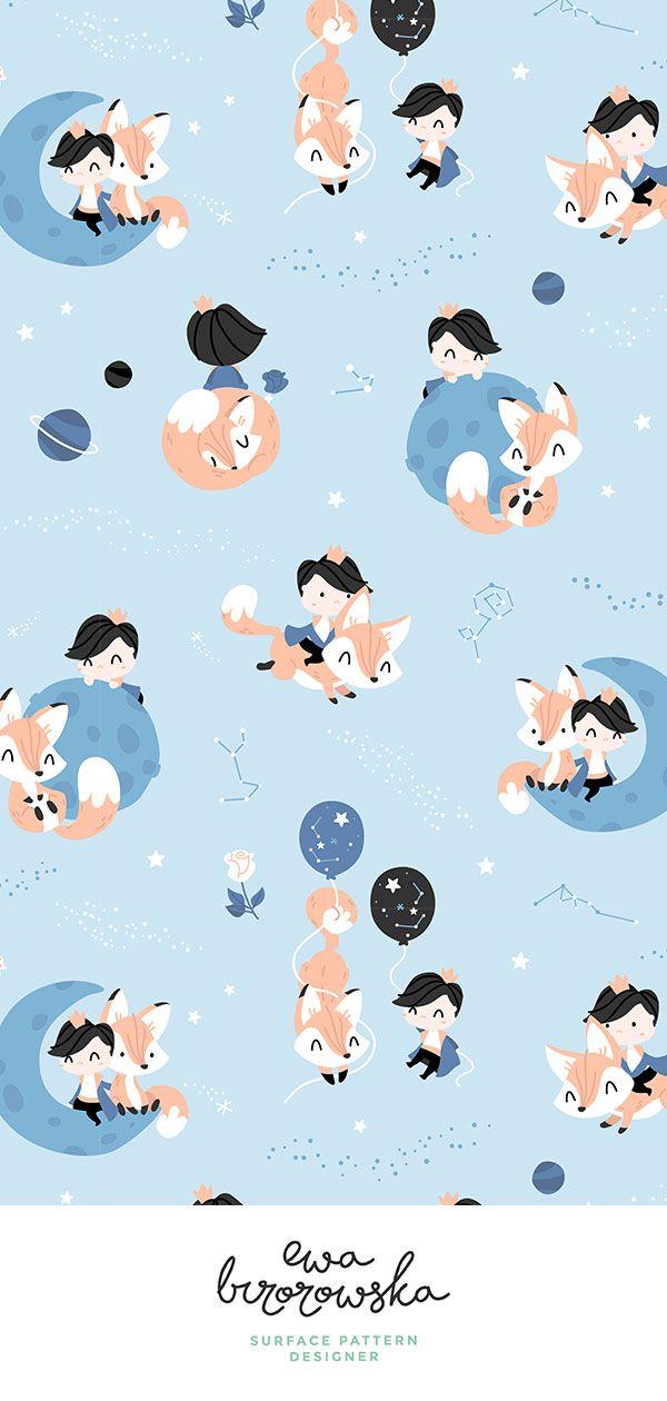 Pin On Ewa Brzozowska Surface Pattern Design Cute wallpapers for kids boys