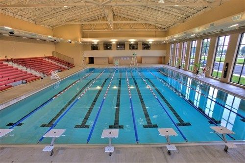 Gorgeous Natatorium Indoor Olympic Size Pool Open To The Public Located Close To Lake
