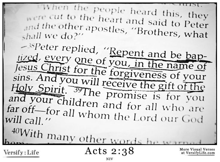 8 best acts bible verse images images on pinterest bible every one of you in the name of jesus christ for the forgiveness of your sins and you will receive the gift of the holy spirit negle Gallery