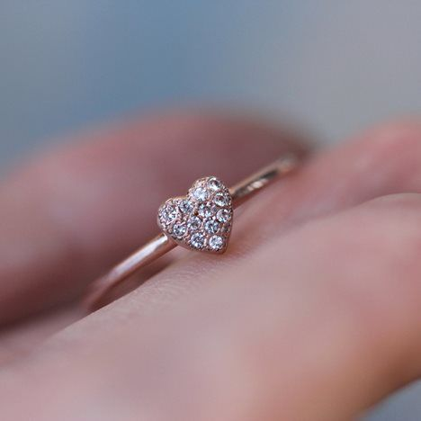 Tiny Sparkly Heart Ring. next ring purchase!