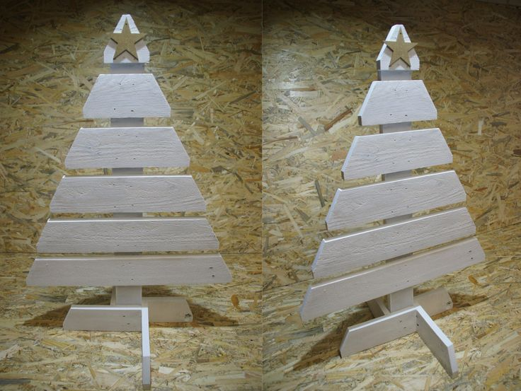 Christmas tree, wood, pallet, DIY, workshop, white, christmas time