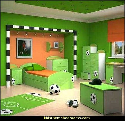 Football Themed Bedroom Best 25 Best Soccer Themed Bedrooms Ideas On Pinterest  Soccer Room Inspiration Design