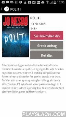EBOK.NO  Android App - playslack.com ,  EBOK.NO er laget for Android og gir deg muligheten til enkelt å nyte ebøker og lydbøker - i en og samme app. For å finne din neste bokopplevelse, kan du velge blant 480 000 norske og engelske bøker i appen eller i nettbutikken. Alle kjøp blir umiddelbart tilgjengelig i din bokhylle. Vi håper du finner noe du liker :) *Kjøp både ebøker og lydbøker direkte fra appen eller fra nettbutikken vår*Les ebøker i ePub og PDF-format i en behagelig leser*Spill av…