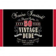 Vintage 50th Birthday Invitations (8pk) $10.50 20891567