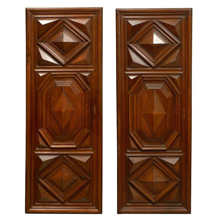 Pair of Louis XIII Period Architectural Panels in Walnut