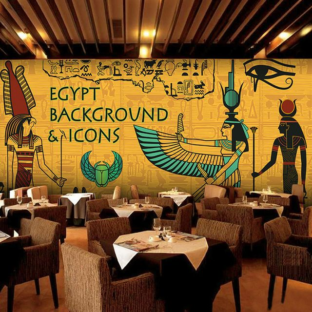 Wallpaper Wallcovering On Sale At Reasonable Prices, Buy Custom Mural  Wallpaper Ancient Egypt Large Wall Murals Bar KTV Themed Restaurant Sofa  Background ... Part 43