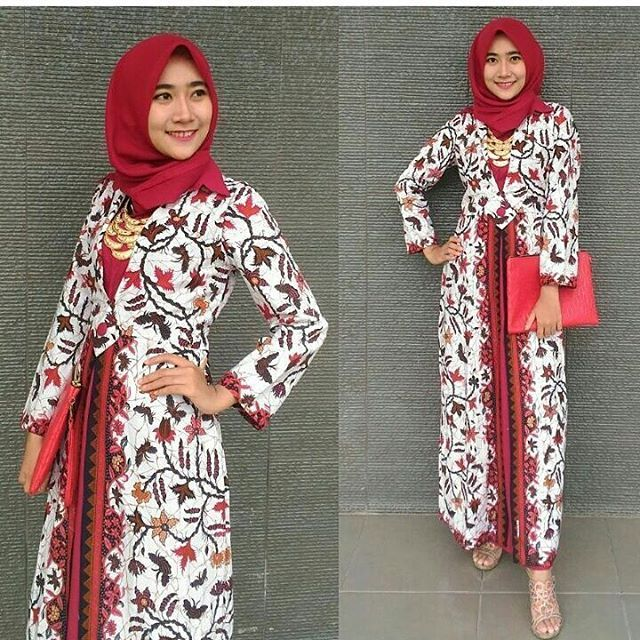 Gamis Batik Terbaru 2019 Pakaian Wanita Model Pakaian Muslim Batik