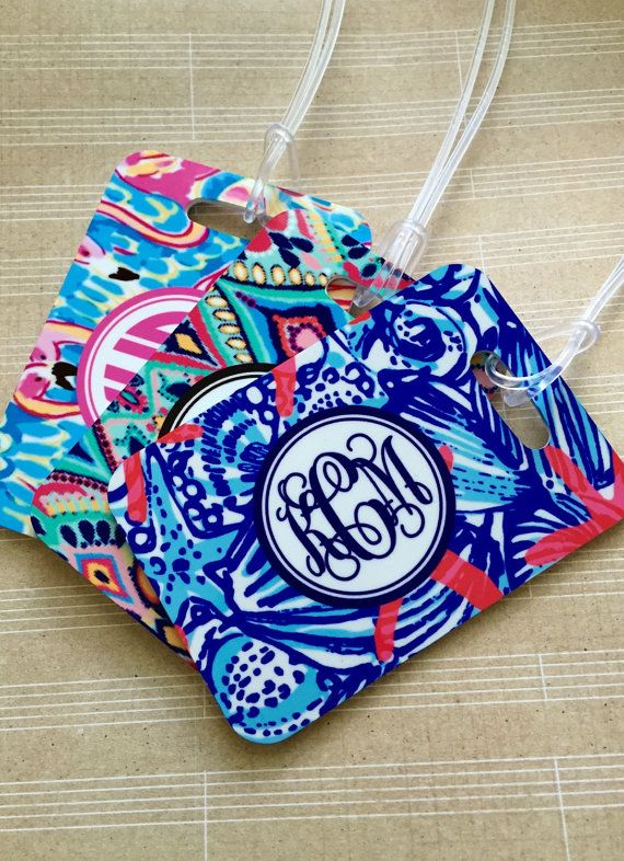 Monogrammed Luggage tag Heavy duty Fiberglass by sweetgrassprints