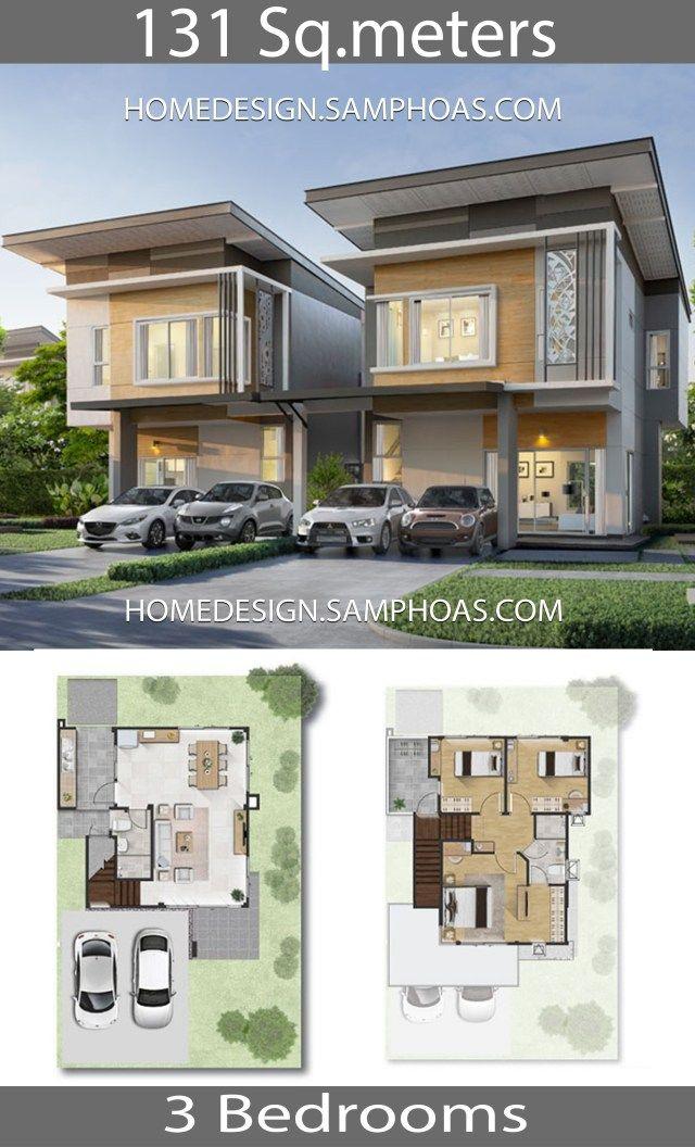 131 Sqm 3 Bedrooms Home Design Idea Com Imagens Casas Plantas De Sobrados Sobrados