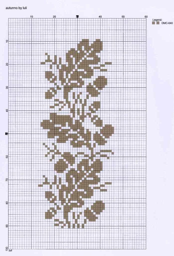 Autumn acorns free cross stitch pattern
