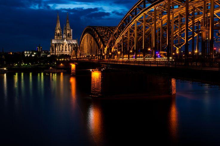colonge at night  by Rick van den Berg on 500px