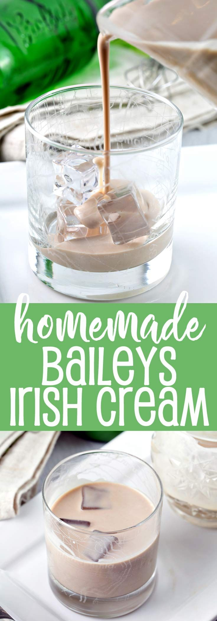 Homemade Irish Cream: quick to make and tastes like the real thing!  Customize flavors for sipping, adding to drinks, or boozy desserts. {Bunsen Burner Bakery} via @bnsnbrnrbakery