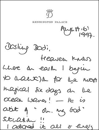 princess diana and dodi - Google Search.........I COULD NOT READ DIANA'S HANDWRITING.........I NEVER COULD......BUT WANTED THIS ON HER PAGE ANYWAY.........ccp