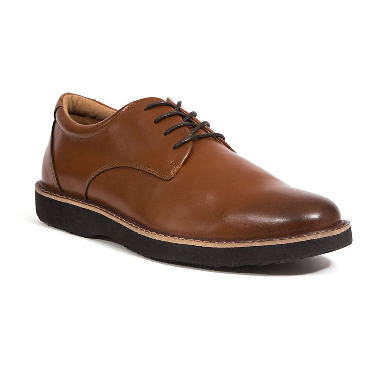 Deer Stags Walkmaster Men's Oxford Shoes, Size: 9 Wide, Brown