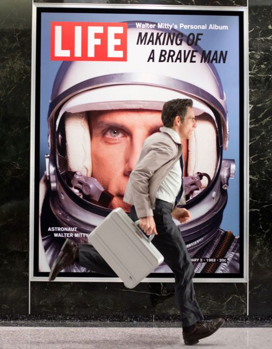 "Ben Stiller dans le film américain, ""La Vie rêvée de Walter Mitty"" (""The Secret Life of Walter Mitty"")."