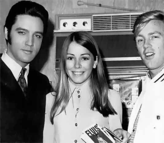 Ward Pally Austin, his wife Irene and Elvis, on the set of The Trouble With Girls , Austin was a well known Australian Disc Jockey who had an Elvis impersonator at his funeral service