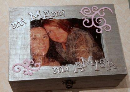 Caja madera madre e hija cajas de madera decoradas - Cajas de madera decoradas ...