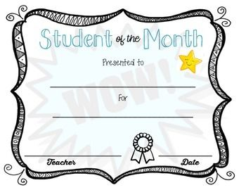 teacher of the month certificate template - 17 best images about classroom on pinterest science