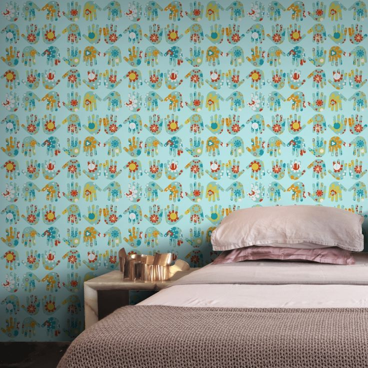 Ulledulledof wallpaper on Feathr.com designed by Sari Taipale #wallpaper #pattern design