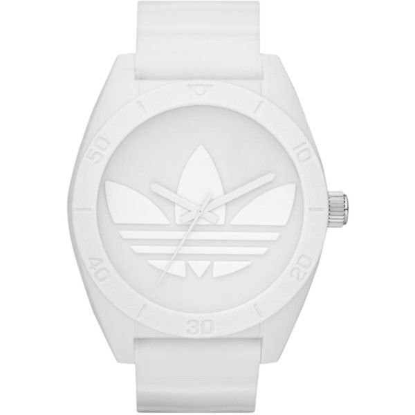adidas Watch, White Silicone Strap 50mm ADH2711 ($48) ❤ liked on Polyvore featuring jewelry, watches, accessories, fillers, white, no color, unisex watches, adidas watches, white watches and unisex jewelry