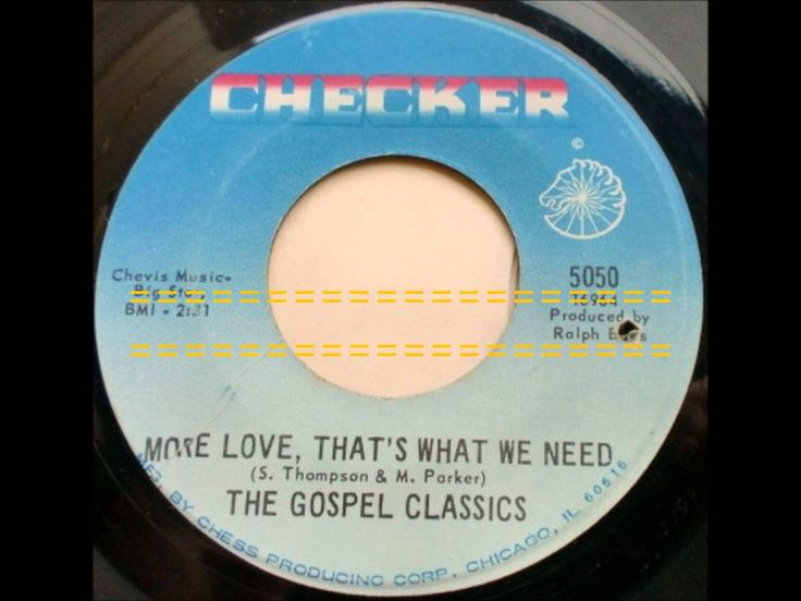 More Love, That's What We Need - Gospel Classics