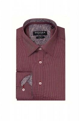 Bordová pánska košeľa