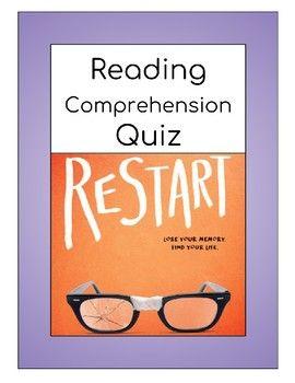 Restart (Korman)--Comprehension Test or Quiz | Middle School