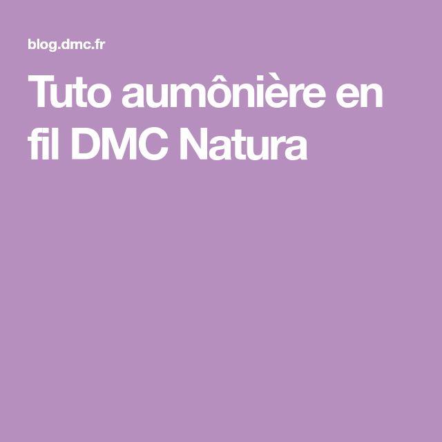 Tuto aumônière en fil DMC Natura