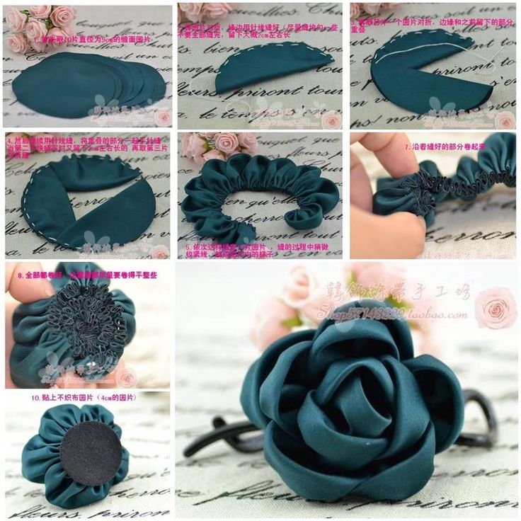 How to make simple Fabric Roses DIY tutorial instructions, How to, how to do, diy instructions, crafts, do it yourself, diy website, art project ideas
