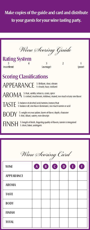 wine tasting card - Google Search