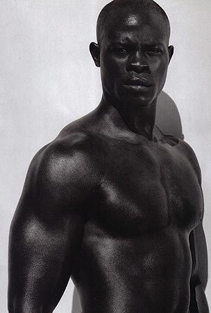 black and white photos of african american actors | Djimon-Hounsou