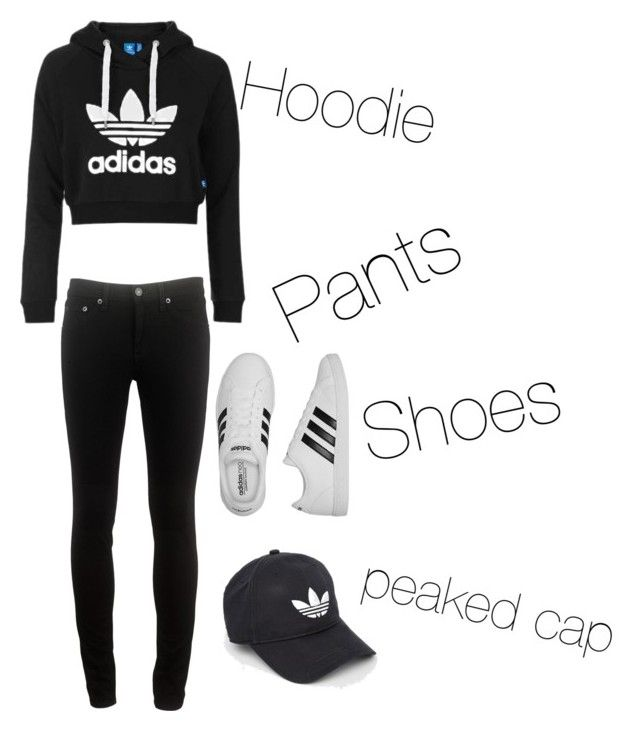 """"""""""" by vensku on Polyvore featuring Topshop, rag & bone and adidas"""