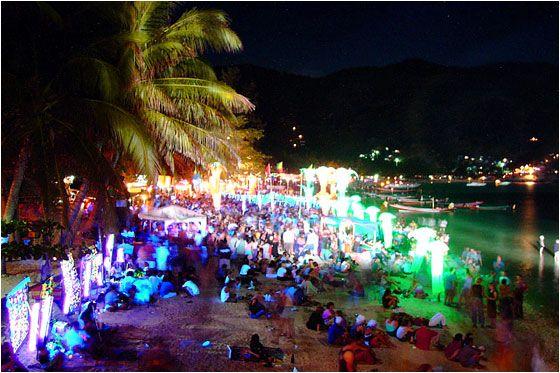Full Moon Party on Haad Rin Beach in Koh Phangan, Thailand