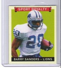 Barry Sanders 2008 Goudey Red Back Mini card - Detroit Lions - Free Shipping